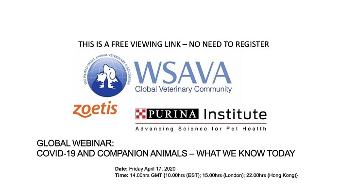 GLOBAL WEBINAR: COVID-19 AND COMPANION ANIMALS – WHAT WE KNOW TODAY